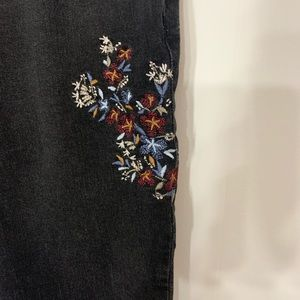 Target jeans with floral embroidery